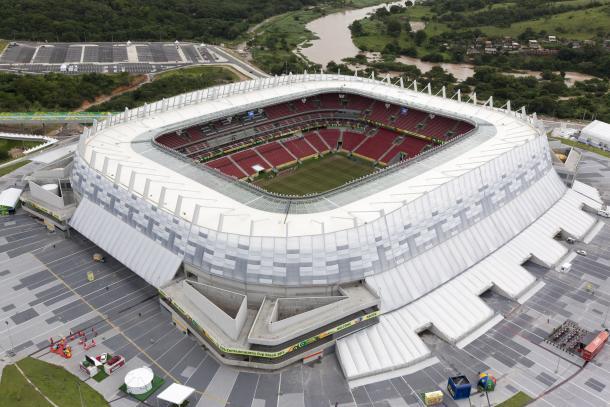 El Arena Pernambuco, estadio del Brasil - Uruguay de hoy