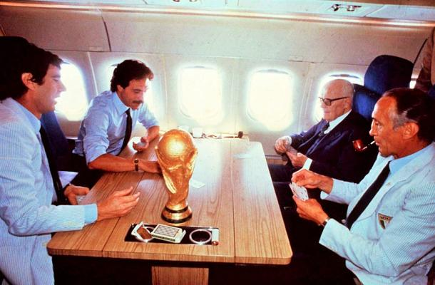 Zoff, Causio, Bearzot, Pertini y la Copa Mundial, de regreso a Italia. | Fuente: Federación Italiana Fútbol