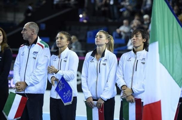 Italy's Fed Cup team. Photo: Fed Cup