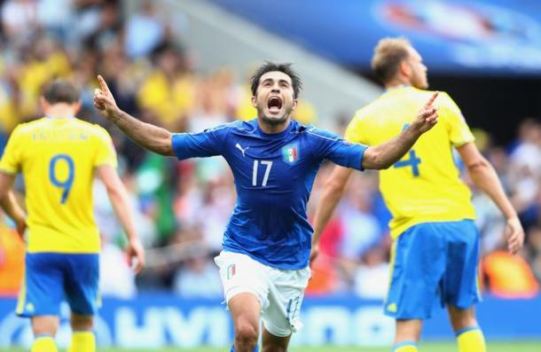 Eder scored an 88th minute winner earlier for Italy against Sweden (Photo: Getty Images)