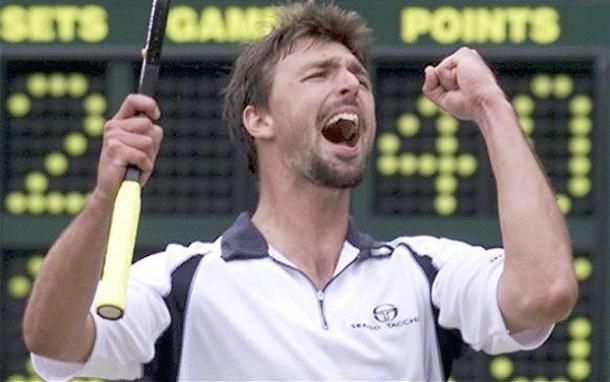 Goran Ivanisevic celebrating | photo: The Telegraph