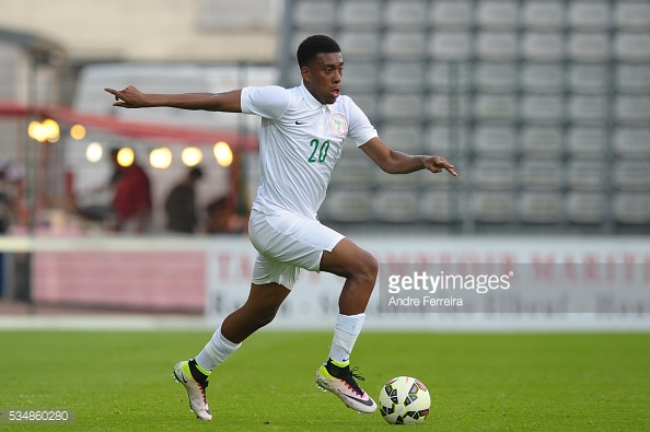 Alex Iwobi scored his first goal for Nigeria over the break | Photo: Getty