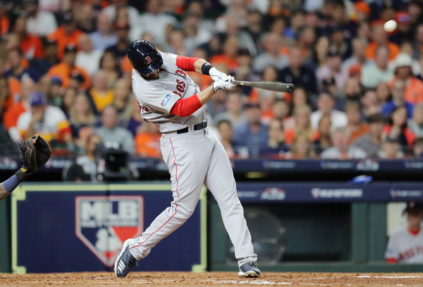 Martinez has been the best offensive player in the AL all year, including the playoffs/Photo: Elsa/Getty Images