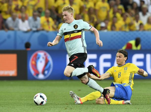 De Bruyne caused Sweden problems all match (Photo: Getty Images)