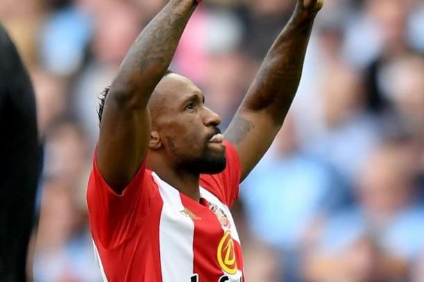 Defoe celebrates his goal. | Image source: PA Wire/Chronicle Live