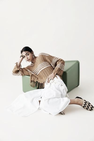 Jersey bicolor // Foto: página web Zara