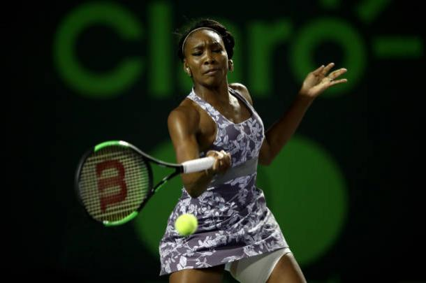 Venus Williams, in action against Beatriz Haddad Maia, should look to be aggressive (Getty/Julian Finney)