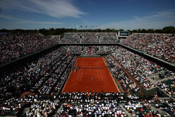 Court Philippe Chatrier will host the French Open final between Jelena Ostapenko and S imona Halep on Saturday (Getty/Julian Finney)