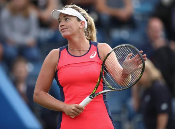 Coco Vandeweghe celebrates her impressive victory (Getty/Julian Finney)