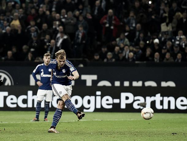 Johannes Geis got the second half off to a perfect start for Schalke. (Image credit: kicker)