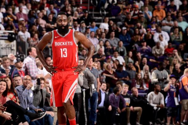 James Harden looks to be gunning for the MVP season. Photo: Michael Gonzales/Getty Images