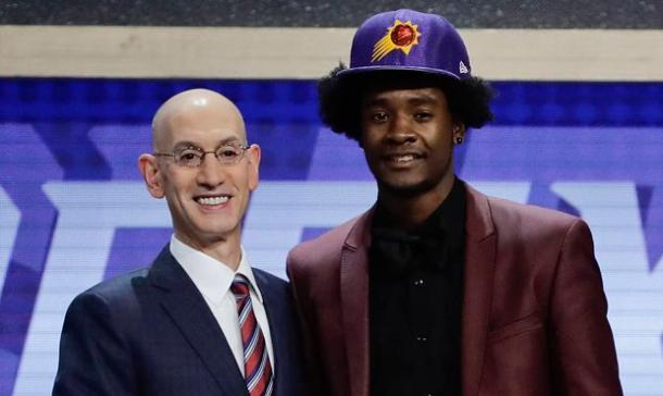 Chris thinks the Suns will be awarded the No. 1 pick in the lottery. Already with a young core, the Suns will look to add another young piece. Photo: AP Photo/Frank Franklin II
