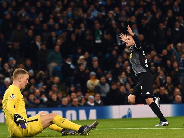 Korb wheels away in celebration after scoring an equaliser. (Image credit: kicker - Getty Images)