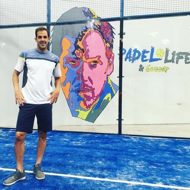 Juan Martin Diaz en la inaguracion del Miami Padel Life | Foto: @Padel_life