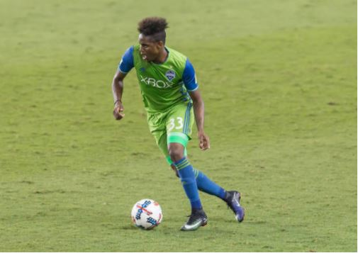 Joevin Jones in action against the Houston Dynamo | Source: Leslie Plaza Johnson/Icon Sportswire via Getty Images