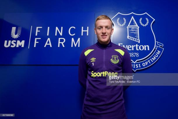 Pickford was brought in for an estimated £25m. Source - Getty Images.