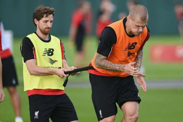 Allen and Skrtel will both be training hard before Euro 2016 (photo: Getty Images)