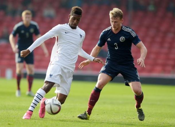 Kingsley is currently with Scotland's under-21s; a reward for his recent form. (Photo: SNS Group)