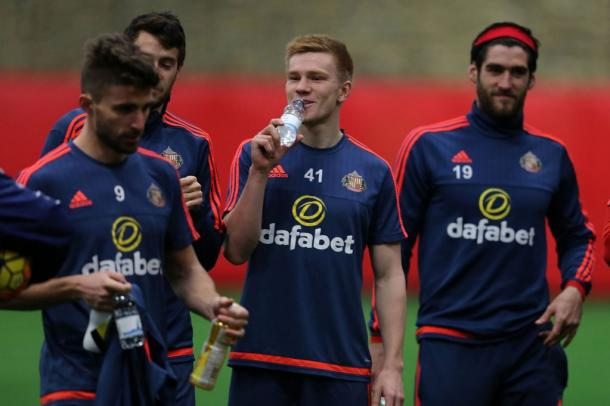 Duncan Watmore (centre) in training | photo: Chronicle Live