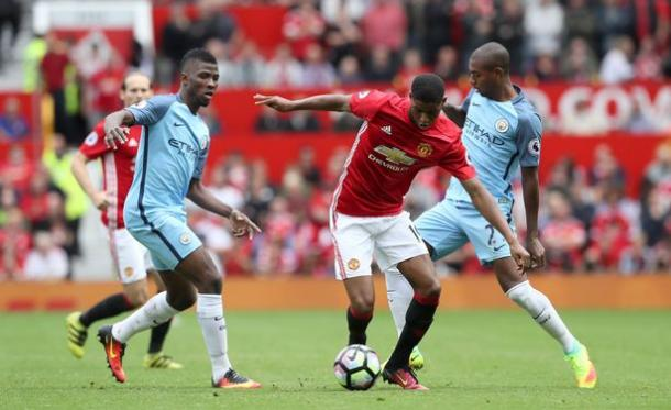 Rashford was brilliant when he came on against Manchester City on Saturday | Photo: Getty