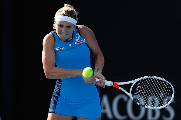 Timea Bacsinszky must try to use her backhand as much as possible to control play (Getty/Jack Thomas)
