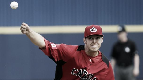 Jameson Tallion takes the bump for Team Canada   Morry Gash - AP