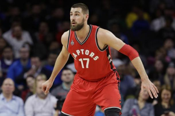 The Raptors need Jonas Valanciunas to have a breakout season as it's overdue. Photo: Carlos Osorio/Associated Press