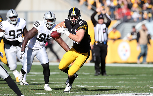 The Steelers hope that Jesse James will be able to have the same impact that Heath Miller had in 11 years / Rob Leiter - Getty Images