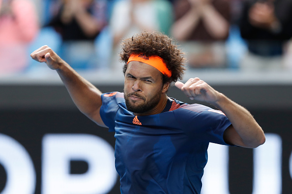Jo-Wilfried Tsonga celebrates his third round victory over Jack Sock (Getty/Jack Thomas)