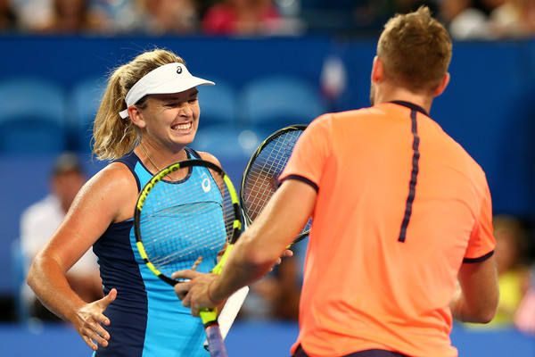 Sock and Vandeweghe at the 2017 Hopman Cup earlier this year | Photo: Paul Kane/Getty Images AsiaPac