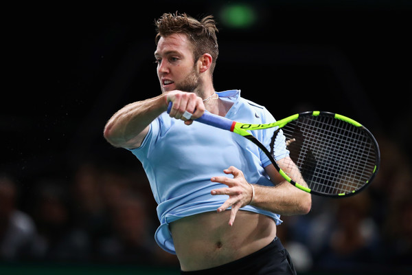 Jack Sock in action at the Paris Masters   Photo: Dean Mouhtaropoulos/Getty Images Europe