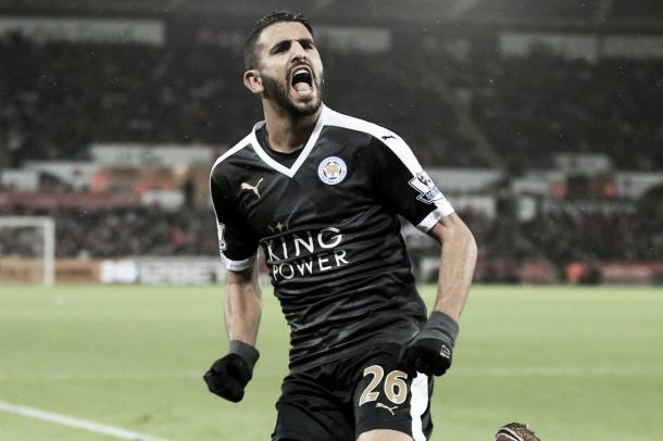 Riyad Mahrez has been quiet on the goal front lately but a game against Swansea City on Sunday might end his dry spell for the Foxes. Photo provided by Nick Potts-PA Wire.