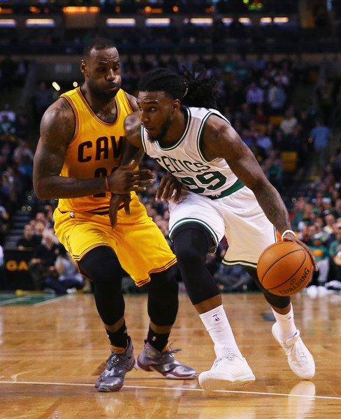 Jae Crowder #99 of the Boston Celtics drives against LeBron James #23 of the Cleveland Cavaliers |Dec. 14, 2015 - Source: Maddie Meyer/Getty Images North America|