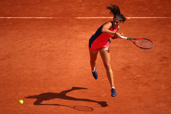 Jaimee Fourlis managed to send the match into a deciding set | Photo: Clive Brunskill/Getty Images Europe