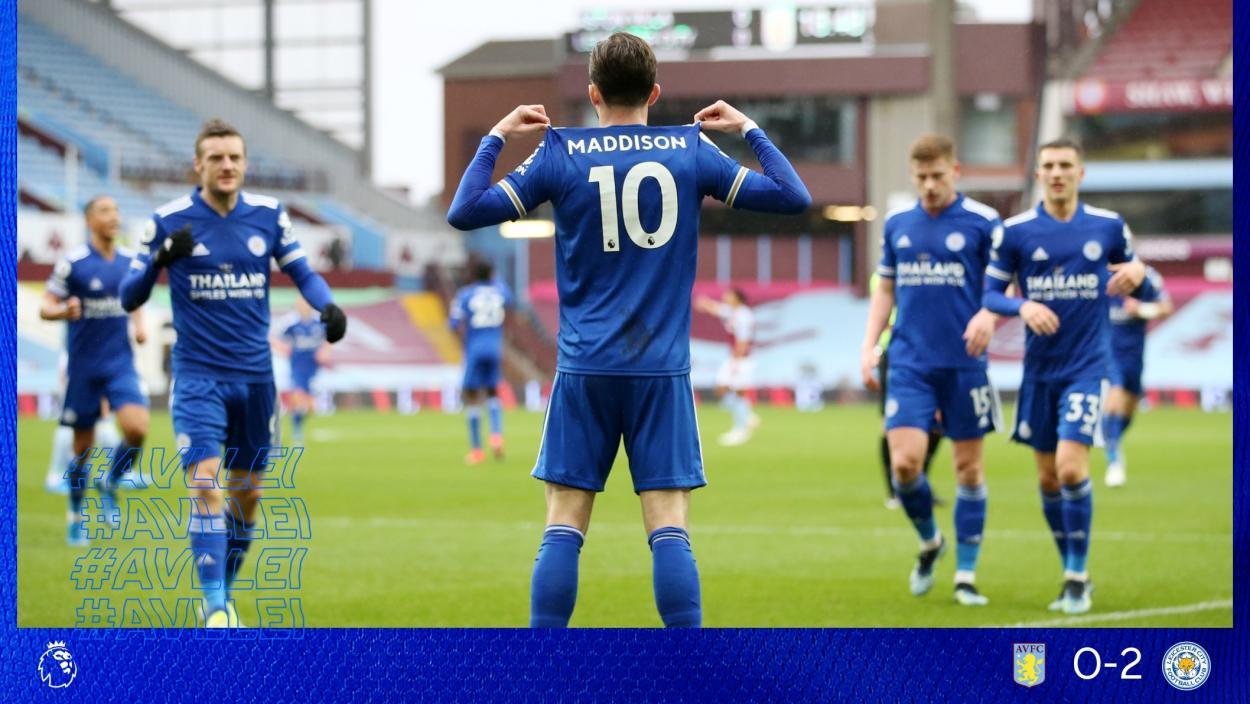 James Maddison tras transformar el 0-1 | Foto: Leicester City