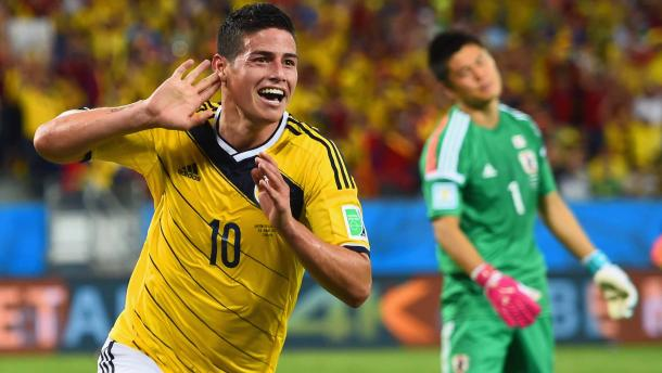 James Rodriguez will have to lead Colombia in the 2016 Copa América Centenario this June. Photo provided by Getty Images.