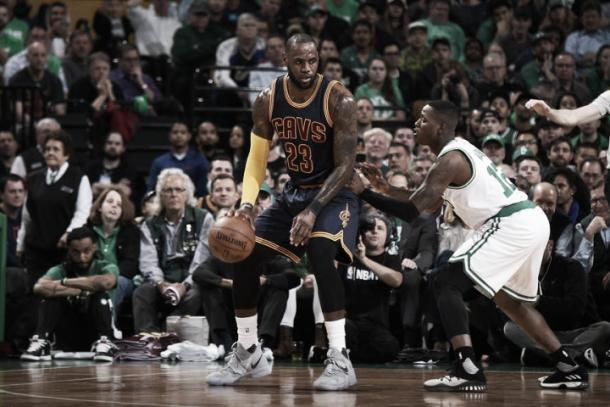 LeBron James looks to attack against Terry Rozier