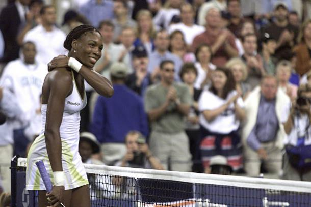 Williams after winning her second US Open title in 2001 (/Jamie Squire)