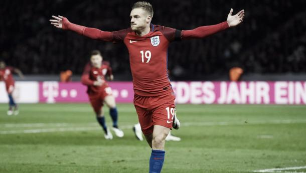 Vardy needs to concentrate on the Euros. Photo- The Telegraph