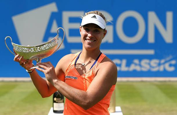 Angelique Kerber after winning the Aegon Classic title in 2015 (Getty/Jan Kruger)