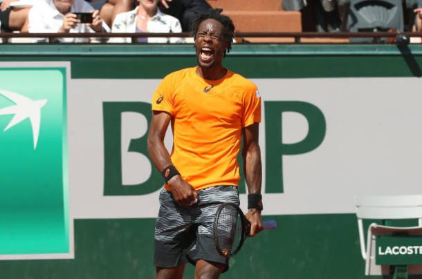 Gael Monfils during his fourth round loss to Stan Wawrinka at the French Open (Getty/Jean Catuffe)