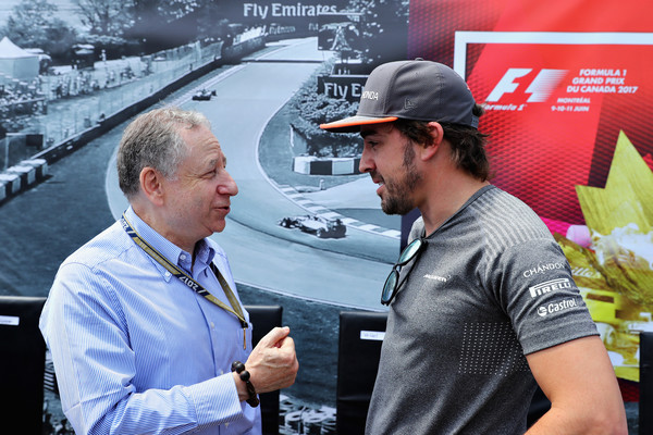 Jean Todt con Fernando Alonso en Canadá una de sus visitas a un GP de F1. Fuente: Getty Images