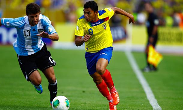 Montero will hope to impress with his country to earn a look-in with his club. (Photo: Jose Jacome/EPA)