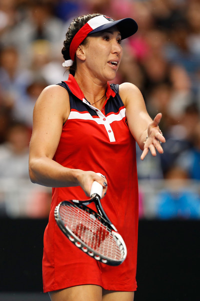 Jankovic seemed to be hampered by a lower back injury | Photo: Jack Thomas/Getty Images AsiaPac