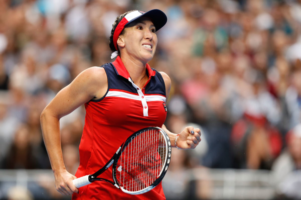 Jelena Jankovic celebrates winning a point against Kuznetsova in Melbourne | Photo: Jack Thomas/Getty Images AsiaPac