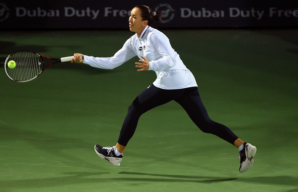 Jelena Jankovic in action at the Dubai Duty-Free Tennis Championships | Photo: Tom Dulat/Getty Images Europe