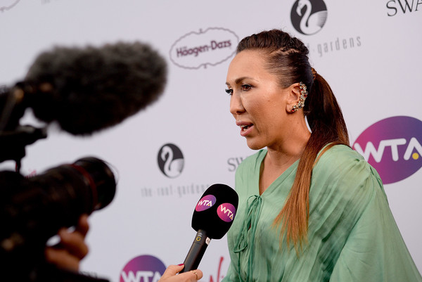 Jelena Jankovic was, however, still in good spirits at the WTA pre-Wimbledon party | Photo: Eamonn M. McCormack/Getty Images Europe