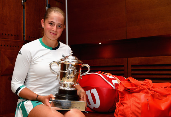 Jelena Ostapenko couldn't hide her delight after claiming the French Open trophy | Photo: Clive Brunskill/Getty Images Europe