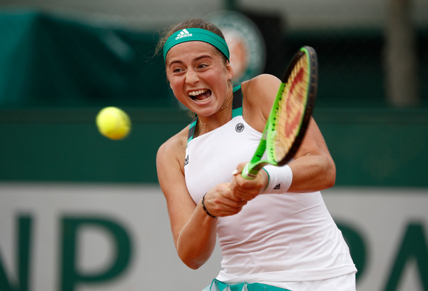 Where her Roland Garros campaign all started: A tough first-round win against Louisa Chirico | Photo: Adam Pretty/Getty Images Europe
