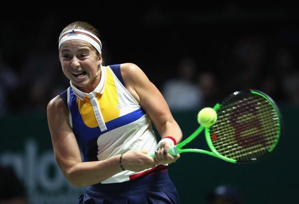 Jelena Ostapenko in action against Karolina Pliskova   Photo: Julian Finney/Getty Images AsiaPac